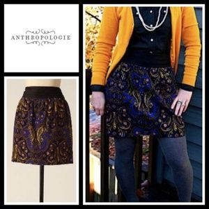 Idra Anthropologie Paisley Whizbang Corduroy Skirt